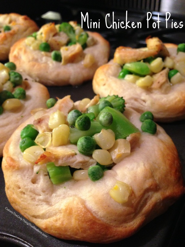 Mini chicken pot pies using Grands biscuits -- SO easy!