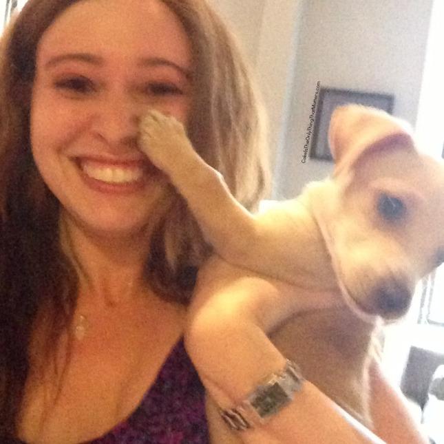 puppy selfie at CakeIsTheOnlyThingThatMatters.com