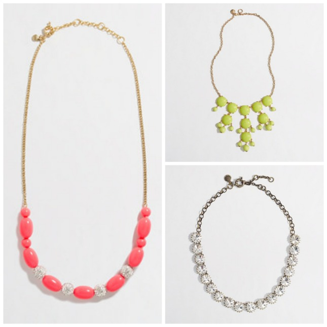 Statement necklaces from JCrew Factory