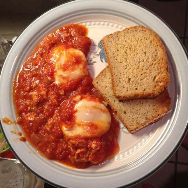 Super easy and delicious shakshuka recipe from CakeIsTheOnlyThingThatMatters.com