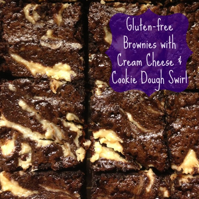 How to make dark chocolate brownies with a cream cheese and cookie dough swirl