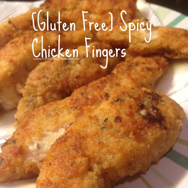 How to make spicy chicken fingers – easy to make regular AND gluten free!