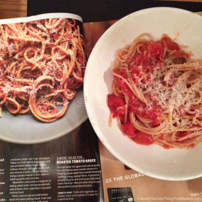 Oven-roasted tomato sauce recipe from Bon Appetit