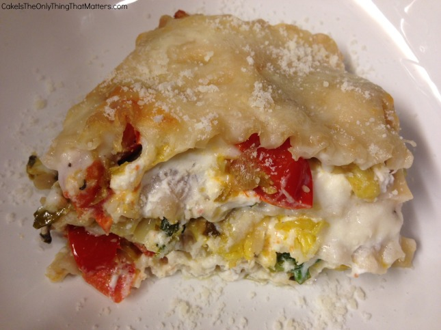 Wonderfully cheesy lasagna packed with sauteed Brussels sprouts and cherry tomatoes (AND it's gluten-free!)